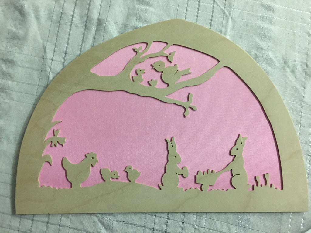 De Noest Silhouette Plate: Easter Pink - STEAM Kids Brisbane