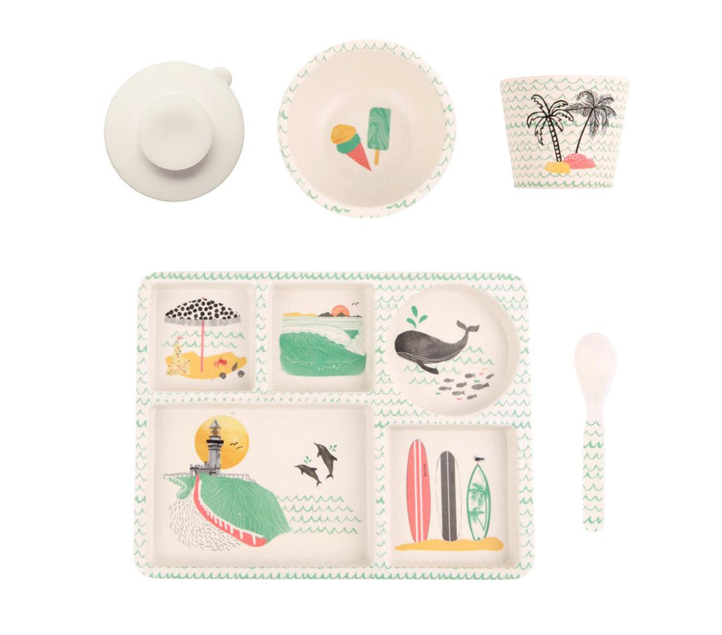 Love Mae Bamboo Divided Plate Set Byron Bay - STEAM Kids Brisbane