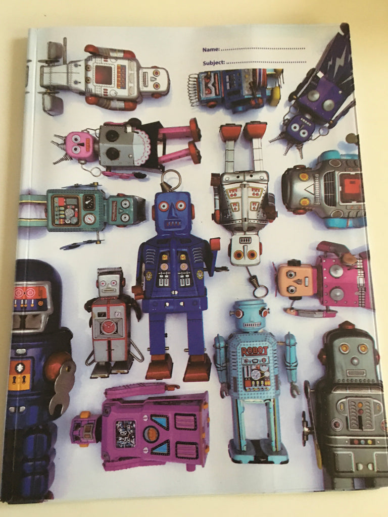 Spencil A4 Book Cover - Robot - STEAM Kids Brisbane