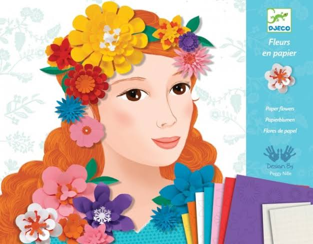Djeco Paper Fashions Flowers - STEAM Kids Brisbane