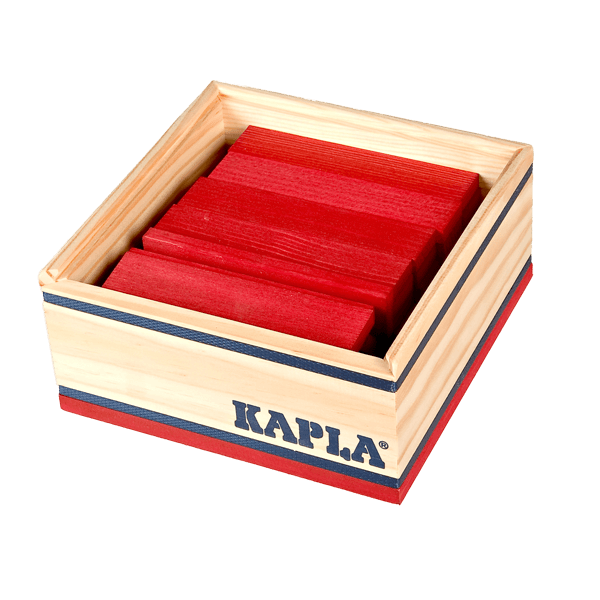 Kapla 40 Piece Colour Set: Red - STEAM Kids Brisbane