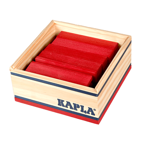 Kapla 40 Piece Colour Set: Red - Flying Fox Shop Brisbane