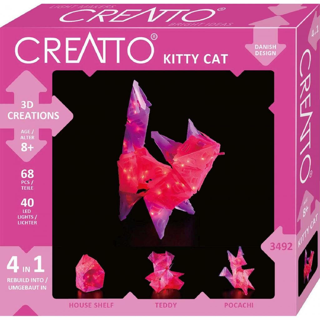 Creatto Kitty Cat 4in1 LED Craft Kit - STEAM Kids