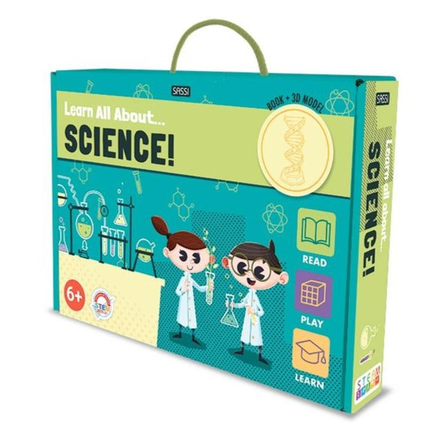 Learn all about... Science! 32 page book and model - STEAM Kids