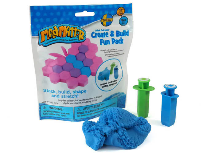 Mad Mattr – Create & Build Fun Pack Blue 57g - STEAM Kids Brisbane