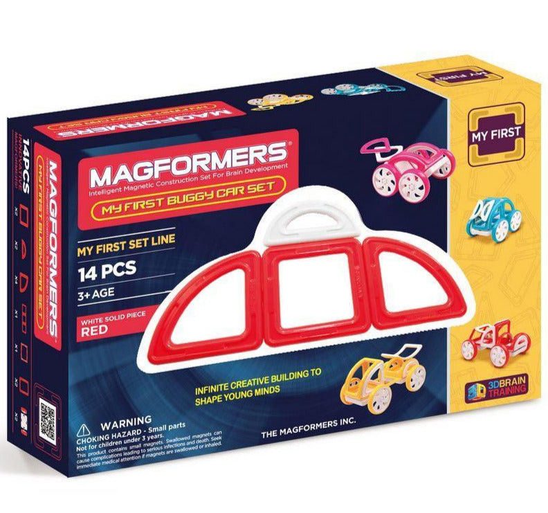 Magformers My First Buggy Car Set (Red) - STEAM Kids Brisbane