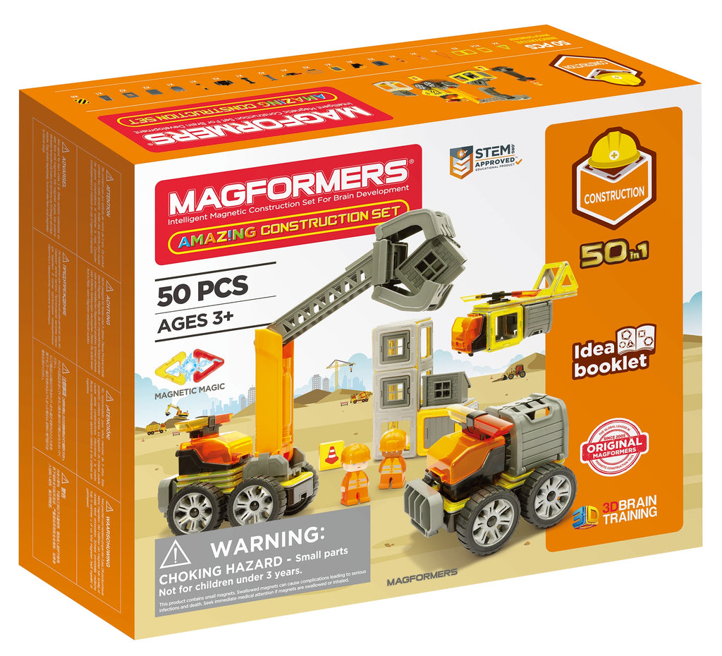 Magformers Amazing Construction Set 50 Piece - STEAM Kids Brisbane