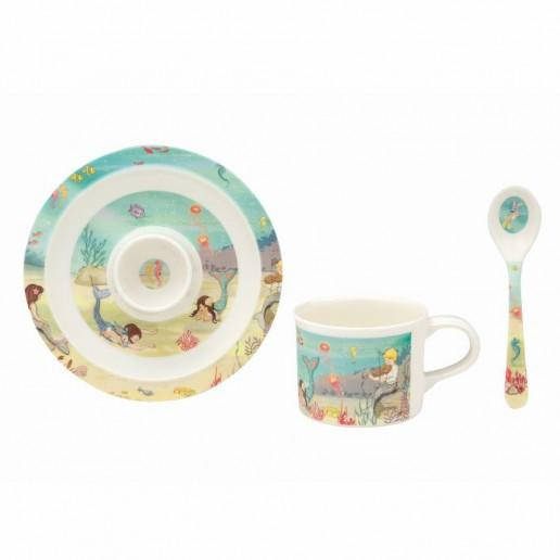 Belle & Boo Mermaid Egg Cup Breakfast Set - STEAM Kids Brisbane