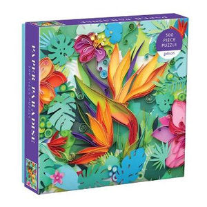 Paper Paradise 500 Piece Puzzle from Galison - STEAM Kids Brisbane