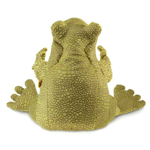 Folkmanis Funny Frog Handpuppet - STEAM Kids Brisbane