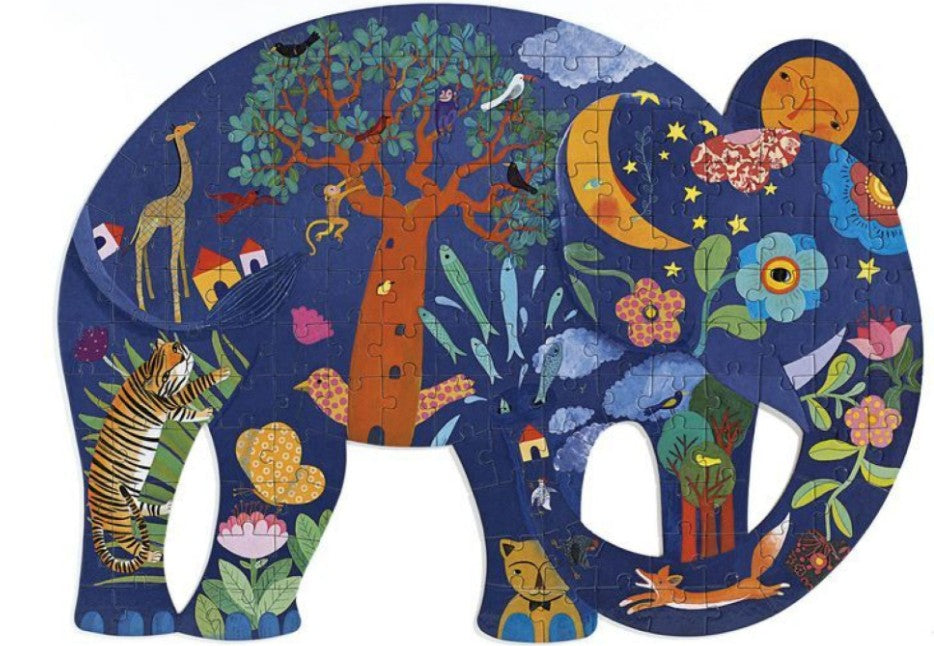 Djeco Puzzle Art Elephant 150 piece Puzzle - STEAM Kids Brisbane