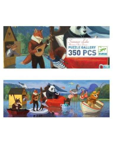 Djeco Puzzle Gallery Summer Lake 350 Piece Puzzle - STEAM Kids Brisbane