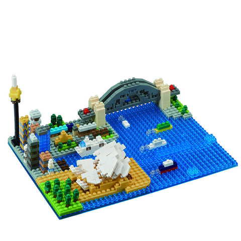 Sydney Harbour Scene Nanoblock - Flying Fox Shop Brisbane