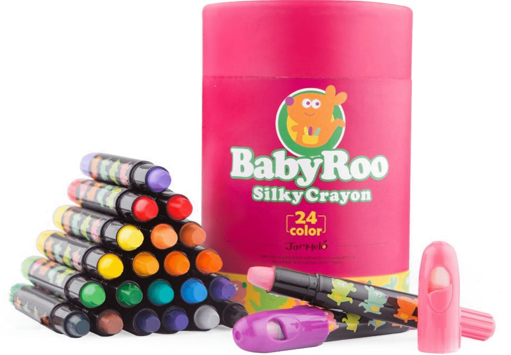 JarMelo Silky Washable Crayons 24 Pack - STEAM Kids Brisbane