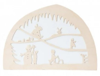De Noest Silhouette Plate: Winter White - STEAM Kids Brisbane