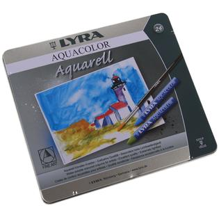 Lyra Aquacolour Water-soluable Crayons Tin of 24 - STEAM Kids Brisbane