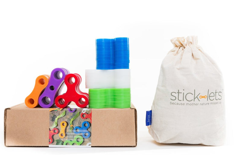Stick-Lets 56 Piece Forest Fort Kit - STEAM Kids Brisbane