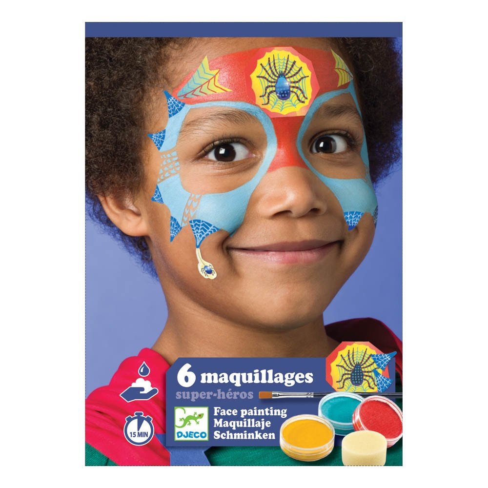 Djeco Super Hero Face Paint Set - STEAM Kids Brisbane