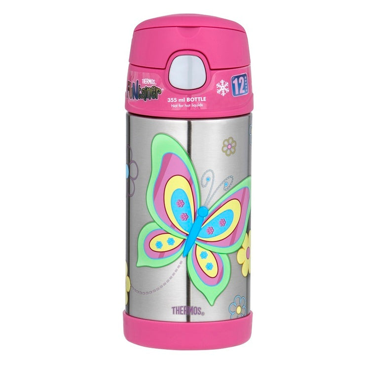 Thermos Funtainer 355ml Insulated Bottle Butterfly - STEAM Kids Brisbane