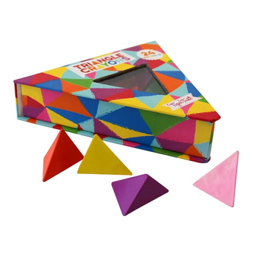 Tiger Tribe Triangle Crayons Pack of 24 - STEAM Kids Brisbane