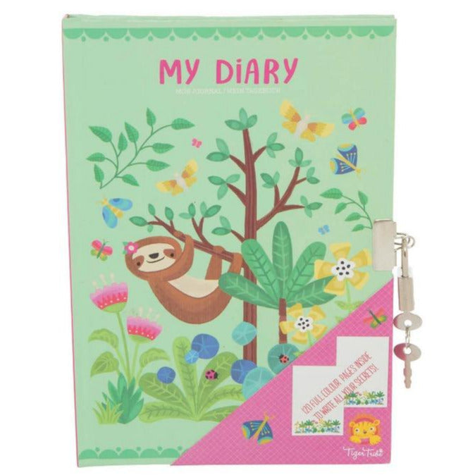 Tiger Tribe Tropical Sloth Lockable Diary - STEAM Kids Brisbane