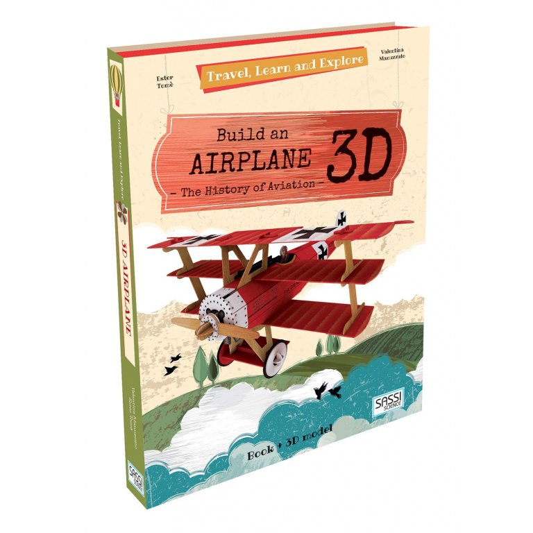 Sassi Travel, Learn and Explore Build a 3D Airplane | Aeroplane Model Book - STEAM Kids Brisbane