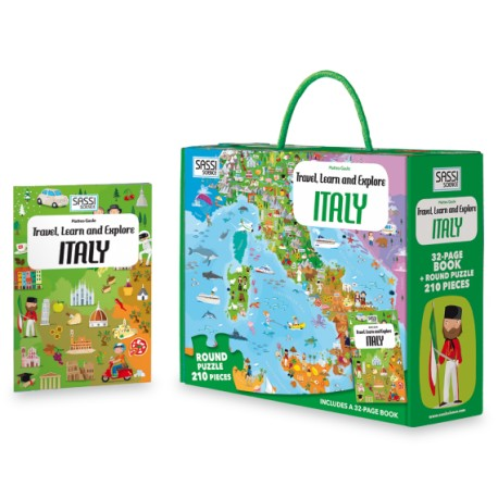 Sassi Travel, Learn and Explore ITALY, 210pcs - STEAM Kids Brisbane
