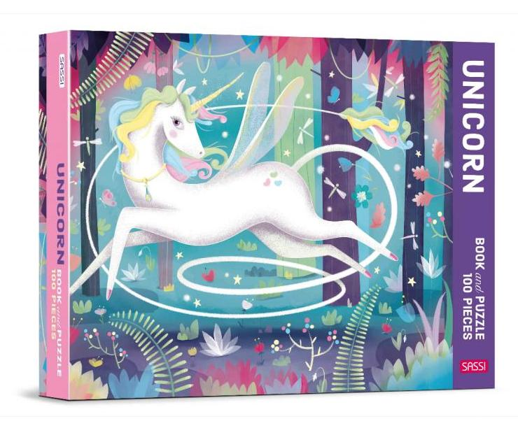 Sassi Unicorn book and 100 Piece Puzzle - STEAM Kids Brisbane