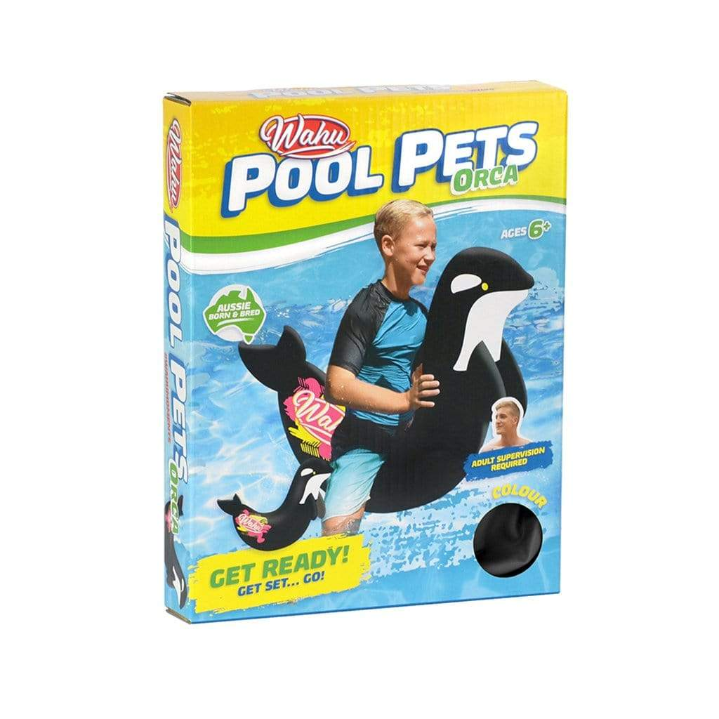 Products Wahu Pool Pets Orca Racer Inflatable