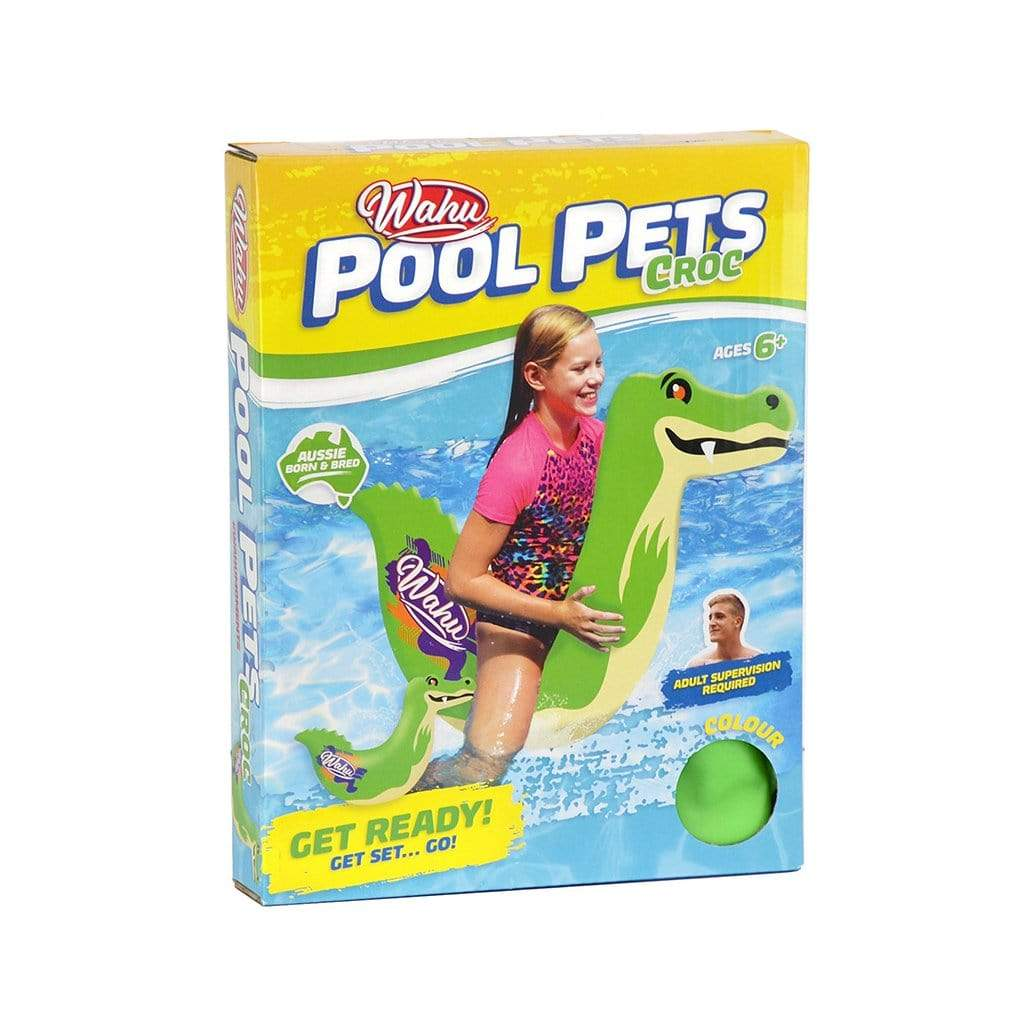 Wahu Pool Pets Croc Racer Inflatable Green