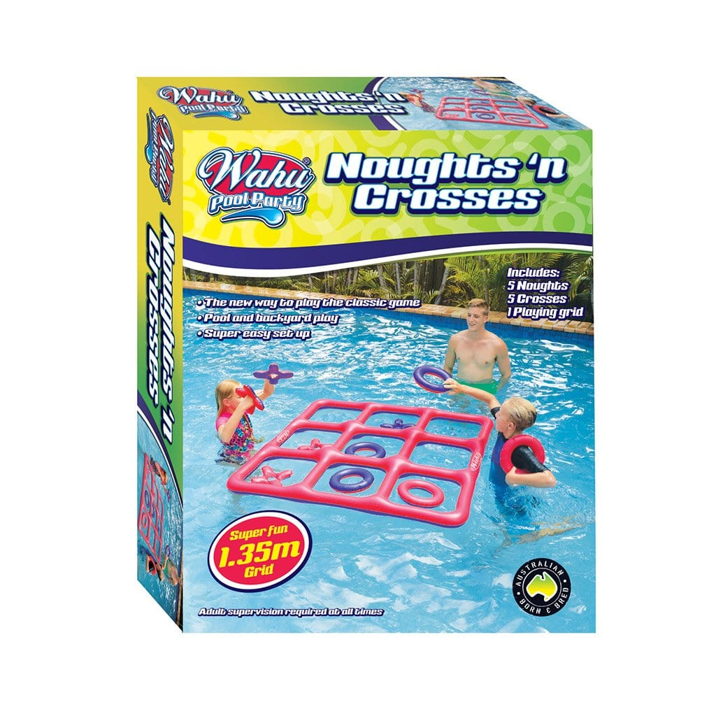 Wahu Noughts & Crosses Inflatable Pool and Backyard Game