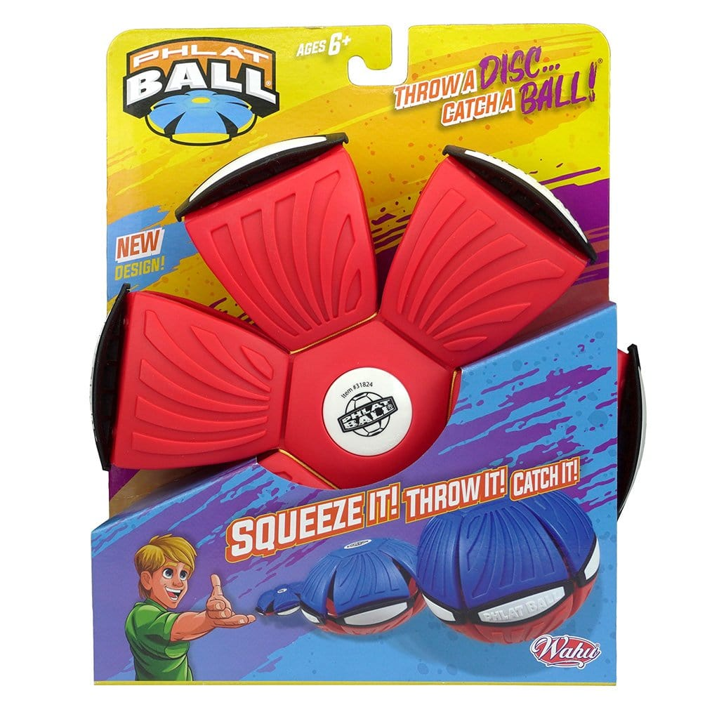 Red and Blue Wahu  Phlat Ball V4 in packaging