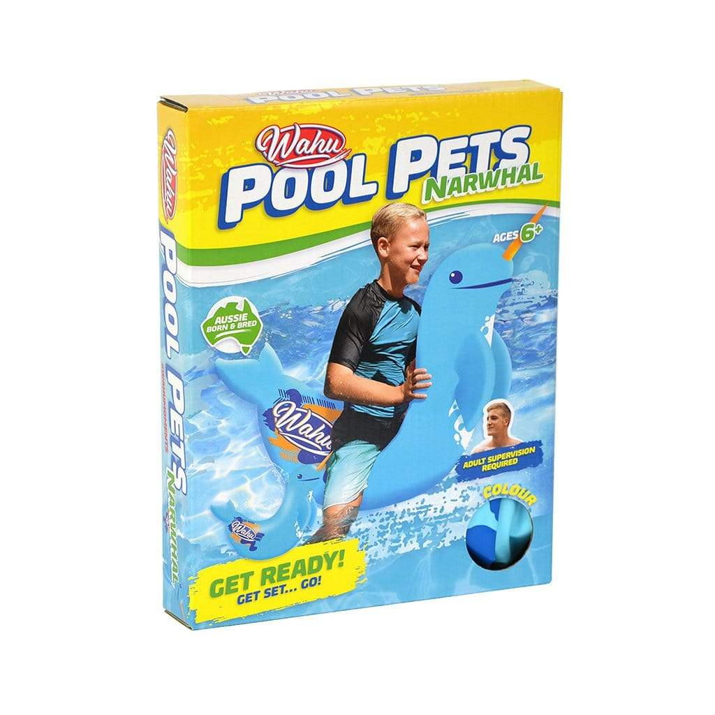 Wahu Pool Pets Narwhal Racer Inflatable