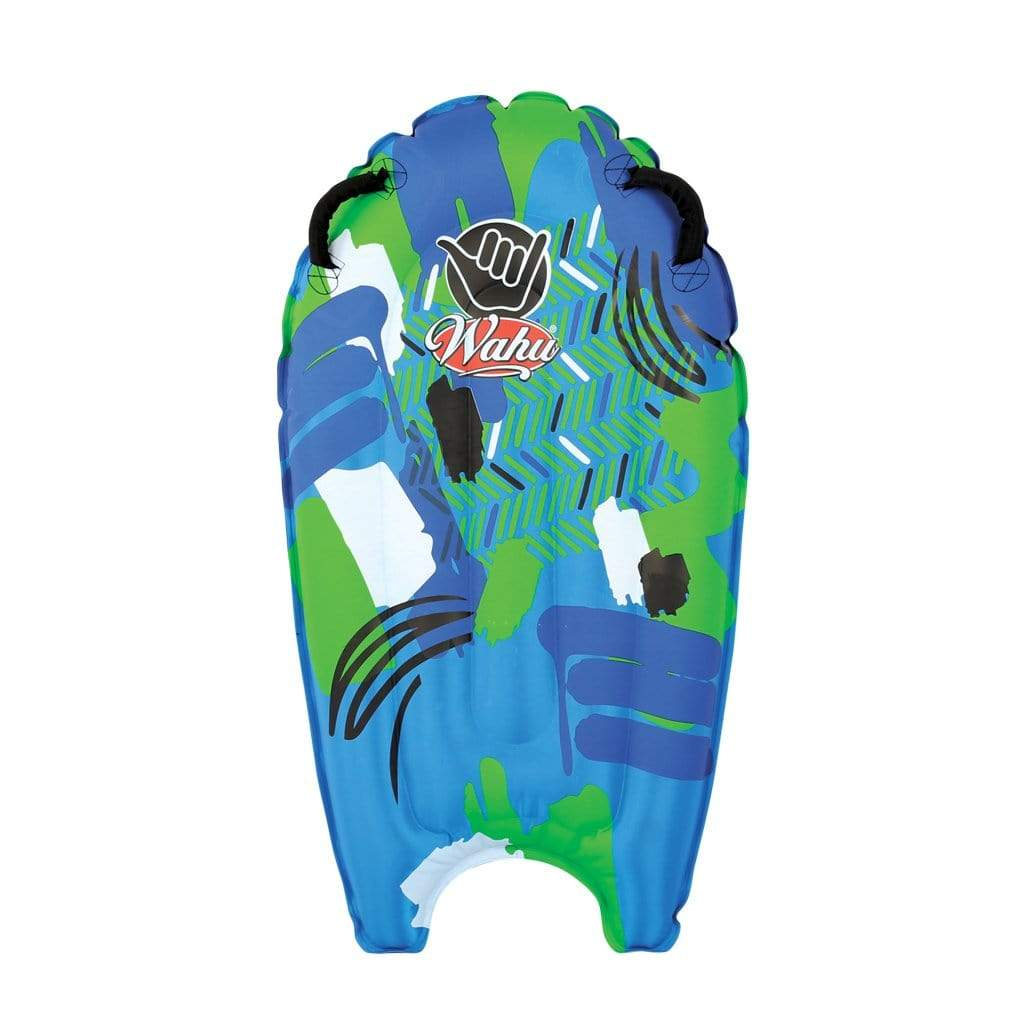 Wahu Wave Tube Inflatable Bodyboard Green and Blue