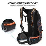 Black Outdoor Hydration Backpack