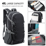 Black Outdoor Hiking Backpack