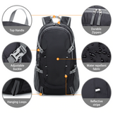 Orange Outdoor Hiking Backpack