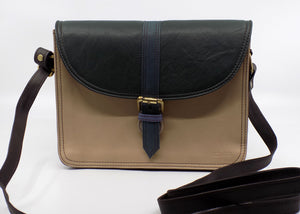 Leather Flap Purse with Buckle