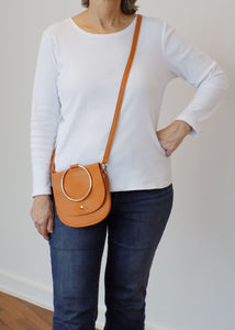 Caramel Brass Ring Bag