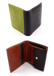 Small Leather Wallet with Coin Pocket