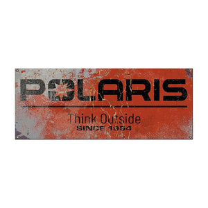 Polaris Polaris Steel Sign 14 x 36