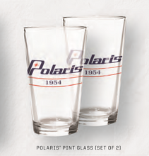 Load image into Gallery viewer, Polaris Retro Pint Glass with Polaris® Logo, Two Count
