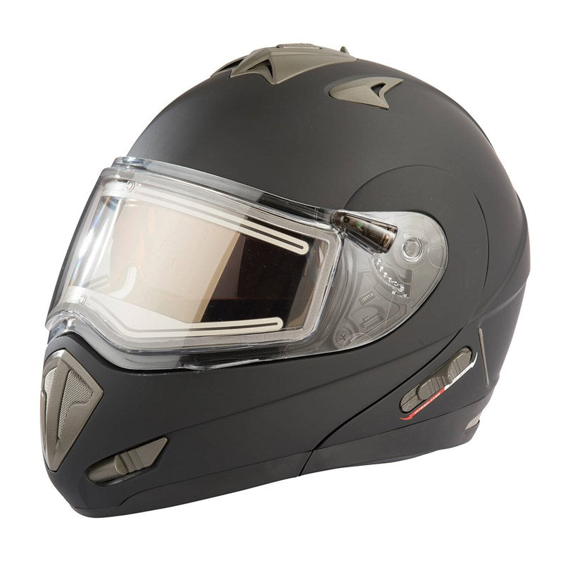 Polaris Modular 1.0 Adult Helmet with Electric Shield, Black
