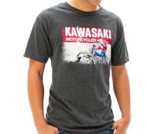 Kawasaki Men's HERITAGE LOGO OLD SCHOOL SIGN T-SHIRT