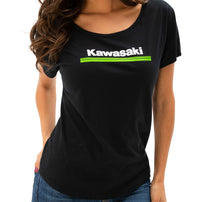 Load image into Gallery viewer, Kawasaki WOMEN'S 3 GREEN LINES DOLMAN TEE