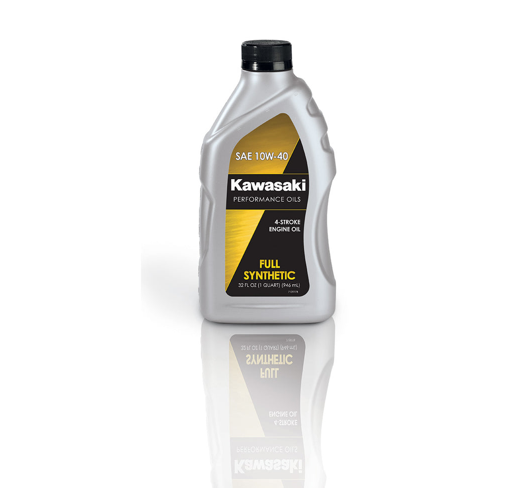 Kawasaki PERFORMANCE 4-STROKE FULL SYNTHETIC OIL, QUART, 10W-40 Item# K61021-207A
