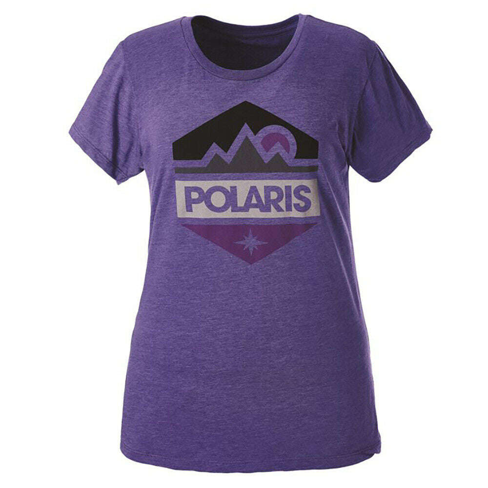 Polaris Womens Classic Logo Hex Graphic T-Shirt Short Sleeve, Fitted