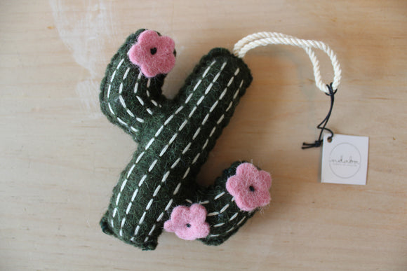 Felted Cactus Ornament