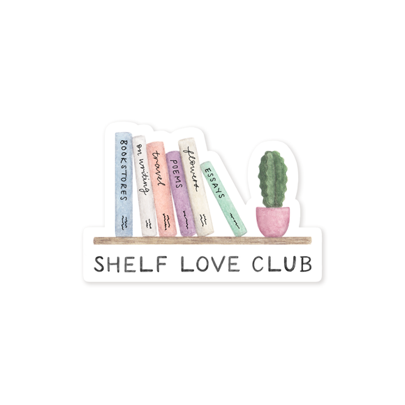 Shelf Love Club Sticker