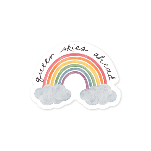 Queer Skies Ahead Sticker